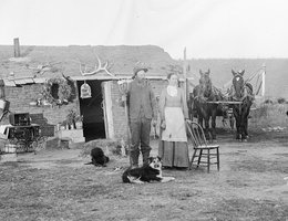 "Detail from ""Nebraska Gothic,"" the John Curry sod house near West Union, Nebraska, 1886"