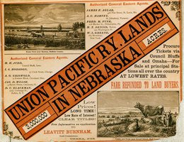 Poster: Union Pacific Lands in Nebraska — 3,000,000 acres