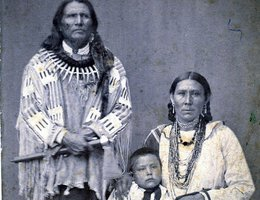 Standing Bear and his family; 1903, several years after the trial