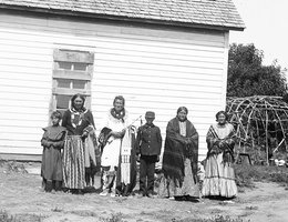 Standing Bear and his family in later years
