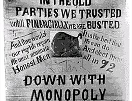 The Progressive Movement was concerned about a variety of issues, including monopolies cornering the markets