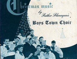 Album cover: Christmas Music by Father Flanagan's Boys Town Choir, Capitol Records