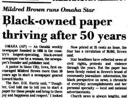 """Lincoln Journal"" story on Mildred in 1989"