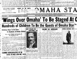 """America Now at War . . . Discrimination Must Go!""; ""Omaha Star"" headline, December 12, 1941"