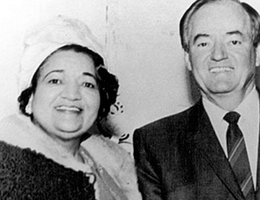 Brown with Vice President Hubert H. Humphrey