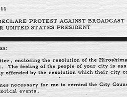 Excerpts from the Hiroshima City Council's Statement and President Truman's Response