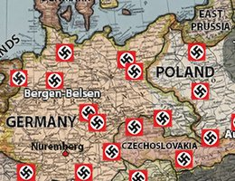 Concentration Camps In Europe Map.Horrors Of War Concentration Camps