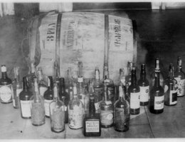 Confiscated liquor