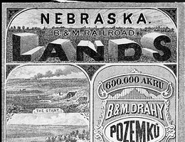 Advertisements like this one influenced Czechs to come to Nebraska