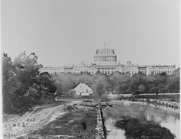 The U.S. Capitol under construction, 1860