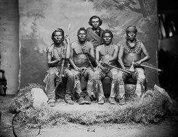 Pawnee Scouts; Photo by William Henry Jackson, circa 1868-1871