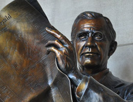 Gilbert W. Hitchcock Bust by George Lundeen