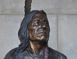 Red Cloud Bust by Jim Brothers